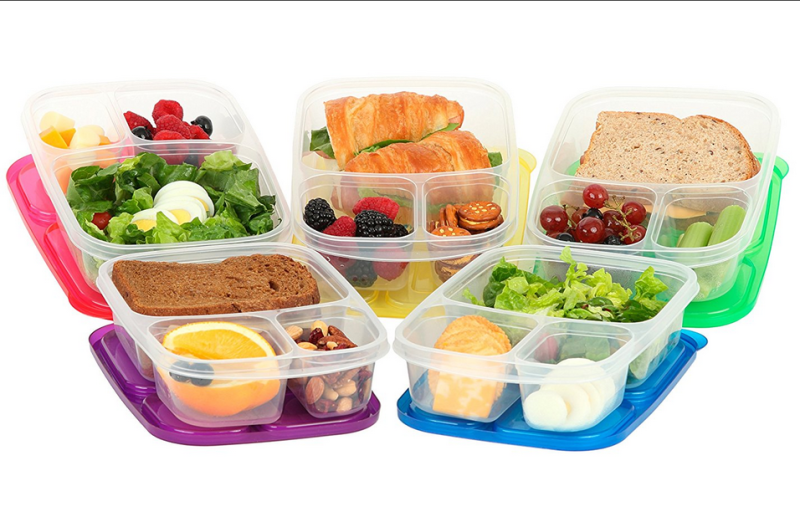 Qualitas-Products-Premium-Kids-Bento-Boxes-3-Compartments-5 Bento Box-Microwave-Safe-Lunch-Leftover-Containers-Set-for-Kids