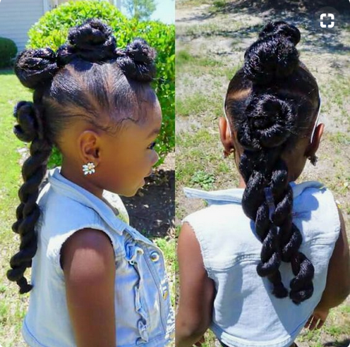 Magnificent 5 Kid Friendly Hairstyles For Little Black Girls Pics Videos Natural Hairstyles Runnerswayorg